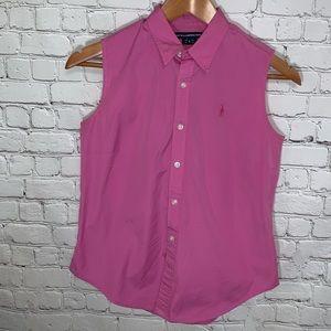 RALPH LAUREN SPORT Sleeveless Button Down Shirt
